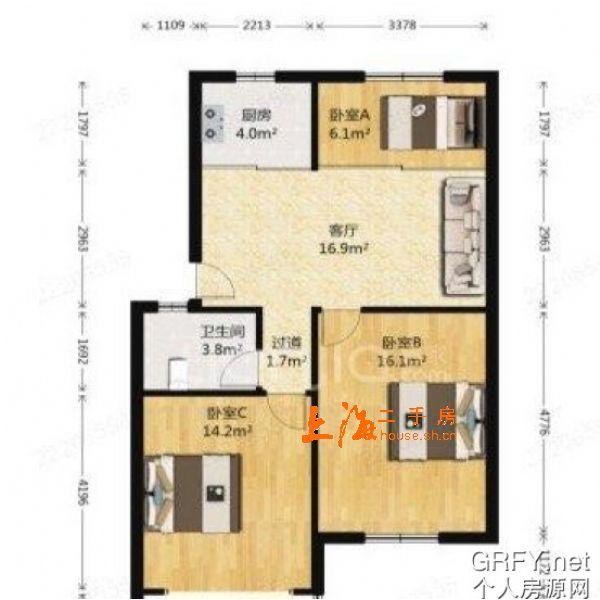 东荡小区三房房型